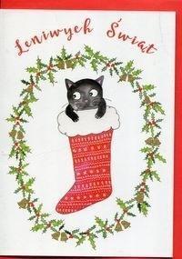 Karnet B6 Boże Narodzenie - Kot