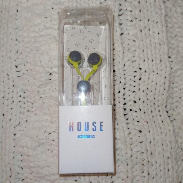 Markowe słuchawki HOUSE, zielone