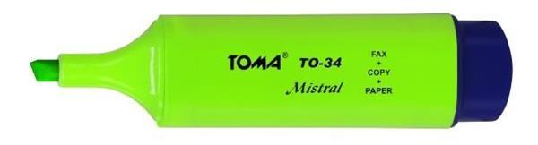 Zakreślacz Mistral zielony (10szt) TOMA