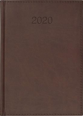 Kalendarz 2020 Książkowy A4 tygodn. Vivo brąz