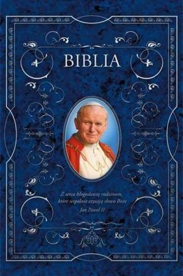 Biblia w obwolucie z Sanktuarium Św. Jana Pawła II