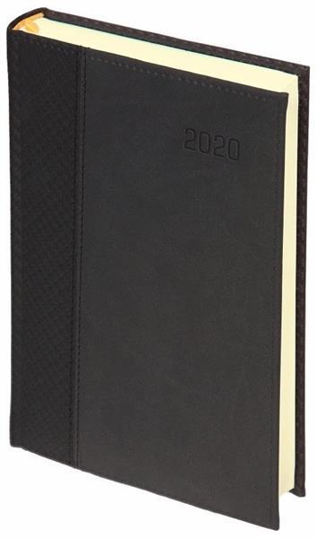 Kalendarz 2020 A4 Dzienny reg. Carbon Paris czarny