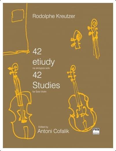 42 etiudy na skrzypce solo
