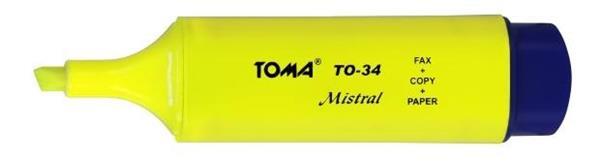 Zakreślacz Mistral żółty (10szt) TOMA