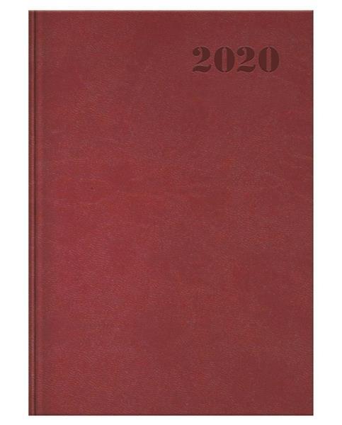 Kalendarz 2020 książkowy A5 Standard bordo OXFORD
