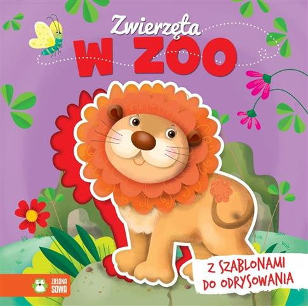 Książki z szablonami. Zwierzęta w zoo