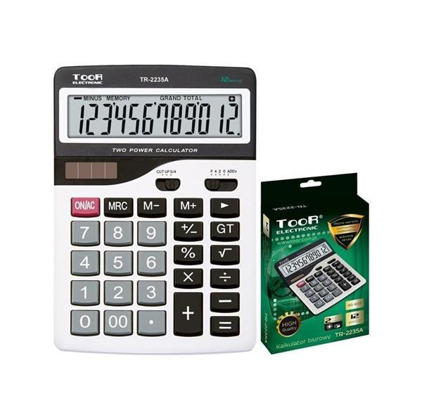 Kalkulator biurowy 12-pozycyjny TR-2235A-W TOOR