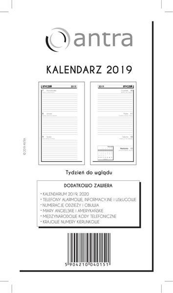 Kalendarz 2019 Wkład ST TDW ANTRA