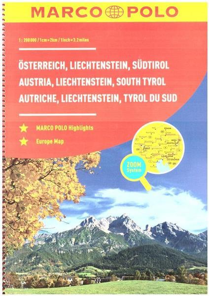 Atlas Austria 1:200 000 spirala w.2018 MARCO POLO