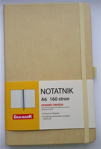 Notes A6/80 kratka Roma beżowy
