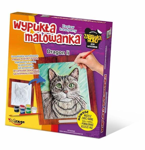 Wypukła Malowanka - Kot Dragon Li