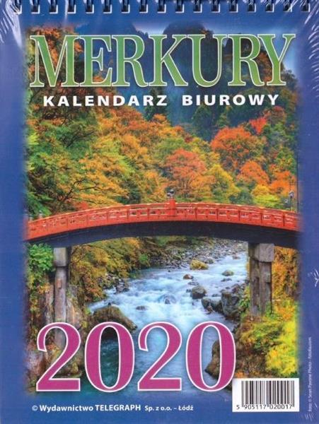 Kalendarz 2020 Biurowy Merkury MIX TELEGRAPH