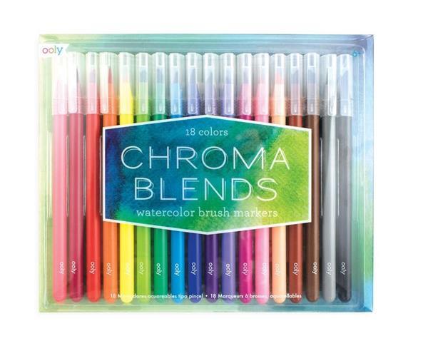 Flamastry pędzelkowe akwarelowe Chroma blends
