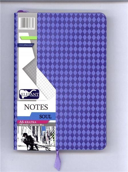 Notes A6/96 Soul liliowy kratka ELEFANT