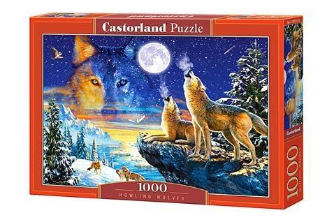 Puzzle 1000 Howling Wolves CASTOR