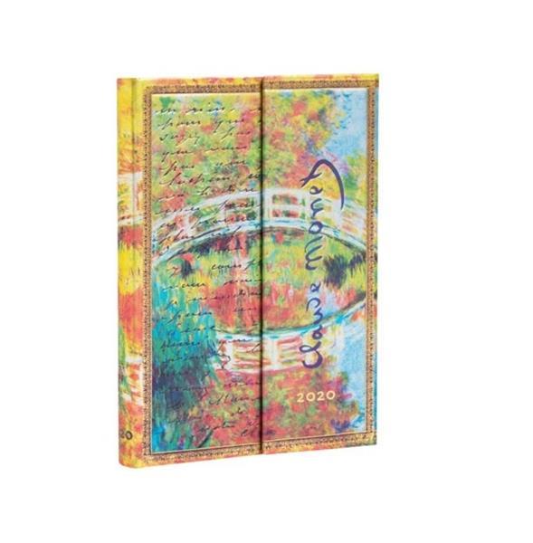 Kalendarz książkowy mini 2020 12M hor. Monet Bridg