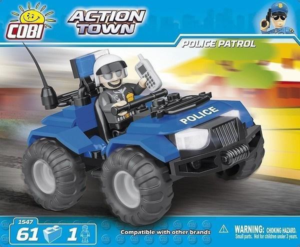 Action Town Policyjny Quad Patrolowy