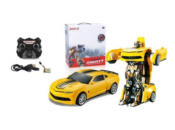 Auto Robot zdalnie sterowany 2w1 żółty