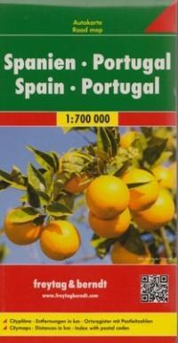 HISZPANIA PORTUGALIA MAPA 1:700 000 outlet