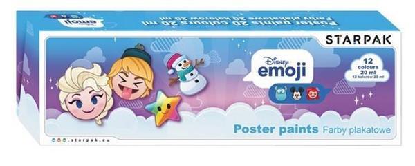 Farby plakatowe 12kol/20ml Emoji Frozen