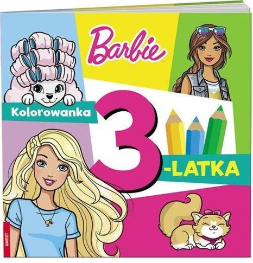 Barbie. Kolorowanka 3-latka