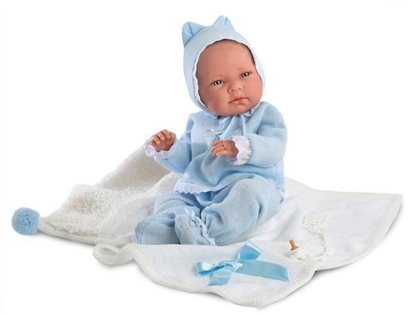 Lalka 73849 bobas Nico w niebieskim kostiumie 40cm