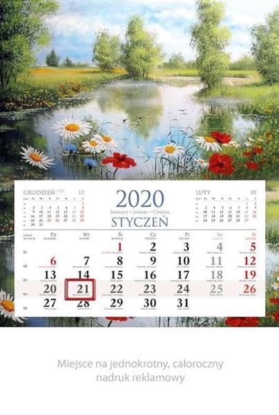 Kalendarz 2020 Jednodzielny Widok KM03