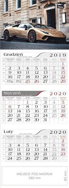 Kalendarz 2020 Trójdzielny Samochód sportowy CRUX
