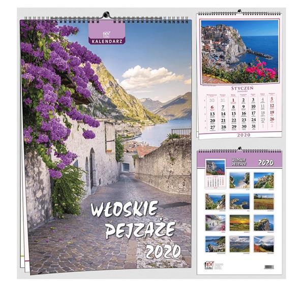 Kalendarz 2020 13 Plansz B3 - Włoskie pejzaże