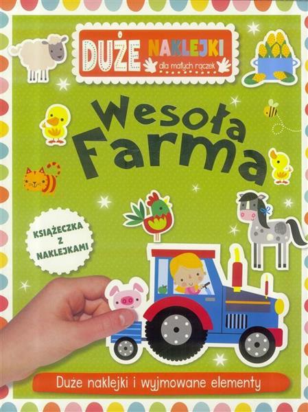Duże naklejki dla małych rączek - Wesoła farma