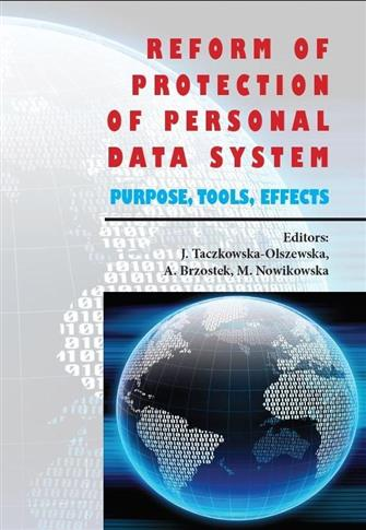 Reform of protection of personal data system