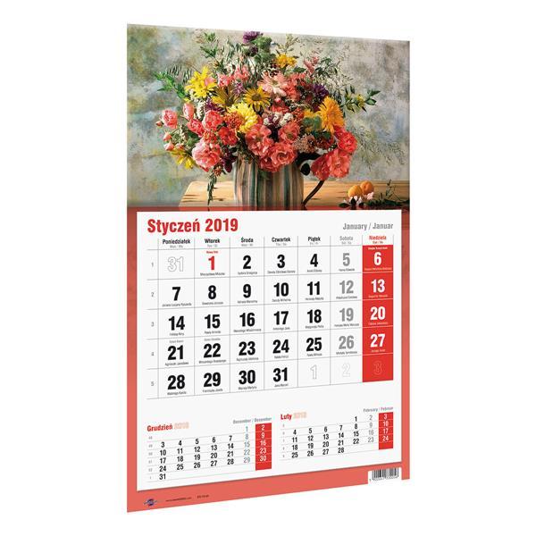 Kalendarz Trójdzielny Jednoplanszowy 2019 KTJ