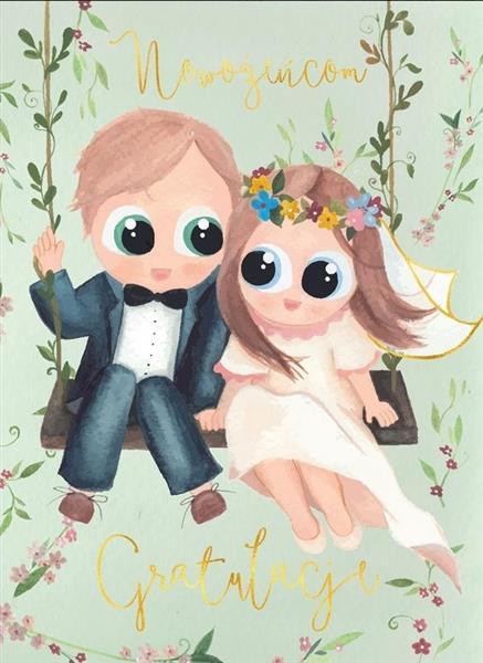 Karnet B6 Ślub - Huśtawka