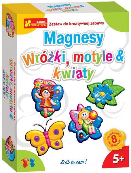 Magnesy Wróżki motyle i kwiaty