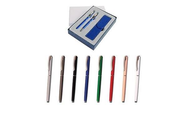 Pióro wieczne + długopis Aston i etui mix