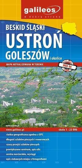Mapa - Beskid Ślącki: Ustroń, Goleszów i okolice-321128