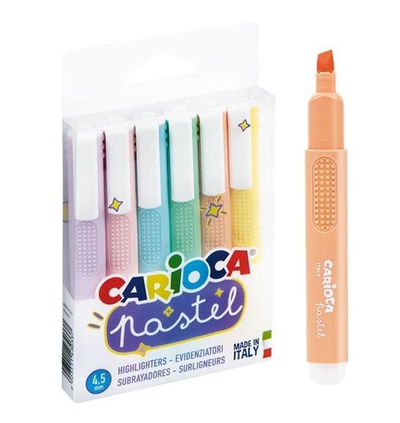 Zakreślacz Pastel 6 kol. CARIOCA