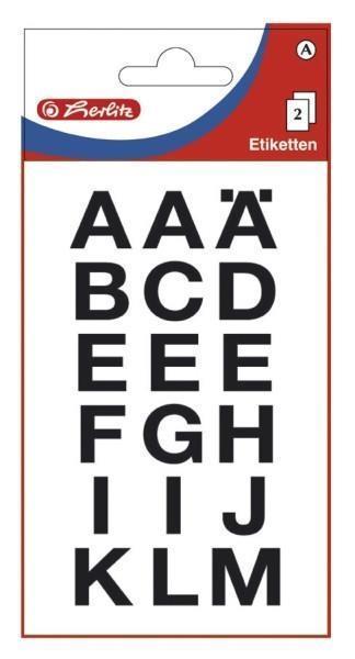 Etykiety Litery duże