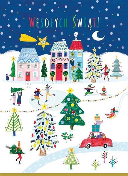 Karnet B6 Boże Narodzenie - Niebieski