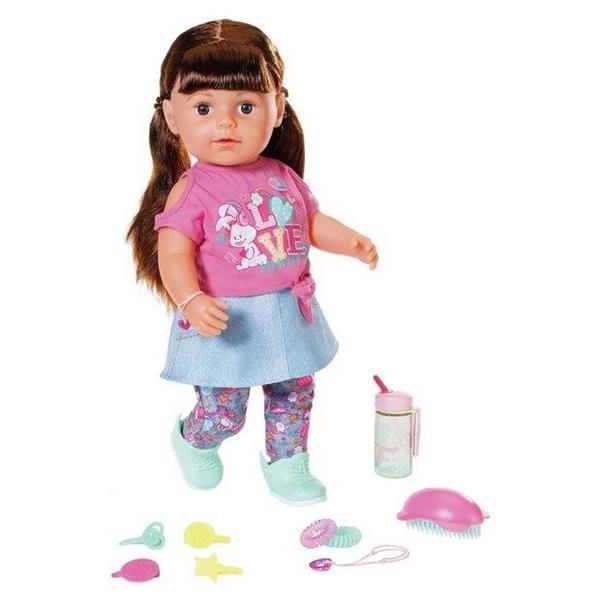 Baby born - Lalka interaktywna siostrzyczka brąz