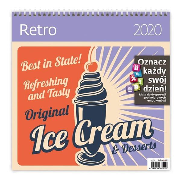 Kalendarz 2020 Retro 30x30cm NARCISSUS