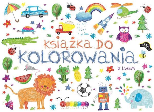 Książka do kolorowania z lwem