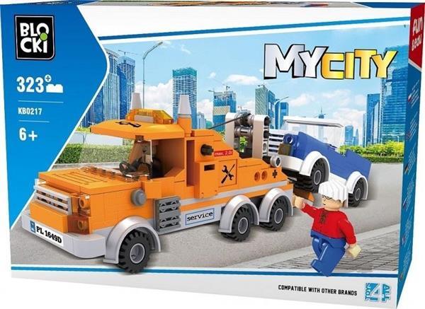 Klocki Blocki MyCity Laweta 323 el.