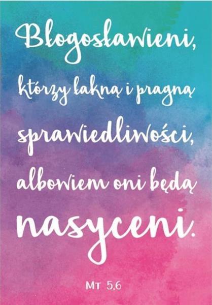 A Kartka składana - Błogosławieni którzy łakną...