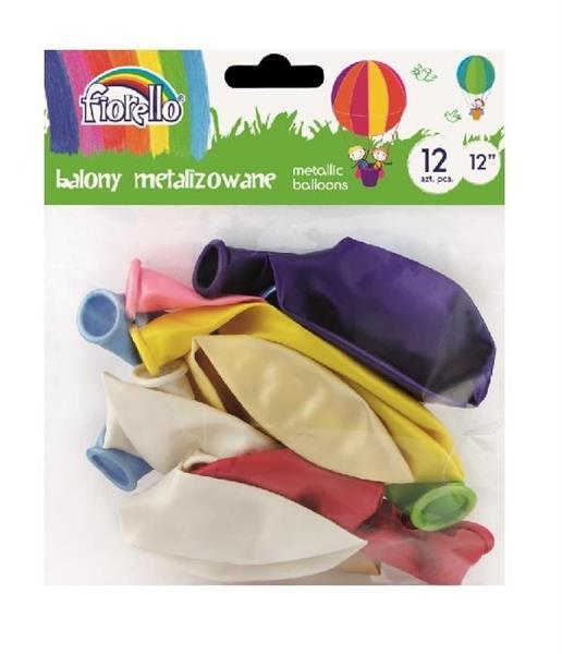 Balony Metal 12'' mix 12 sztuk FIORELLO