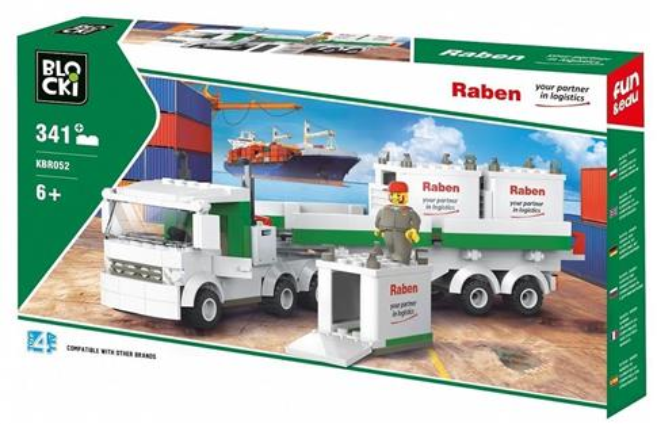 Klocki Blocki Raben Ciężarówka kontenerowa