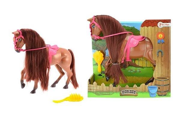 Koń duży w kolorze brązowym ze szczotką