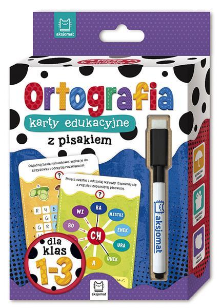 Ortografia. Karty edukacyjne z pisakiem dla klas 1