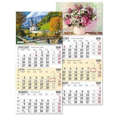 Kalendarz 2020 trójdziel. jednoplansz. SB7 MIX