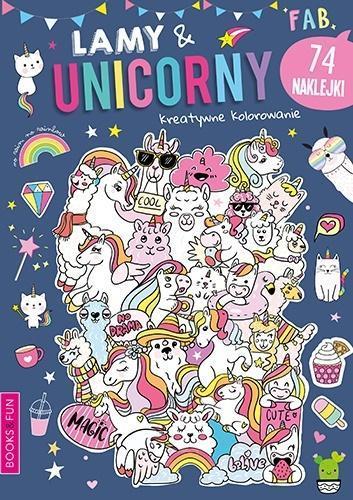Kreatywne kolorowanie Lama and Unicorny